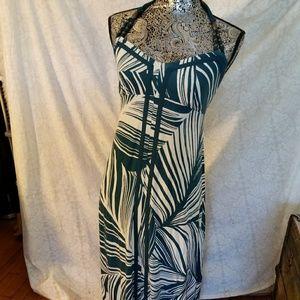 NWOT Tommy Bahama Palm Design Halter Maxi Dress SP